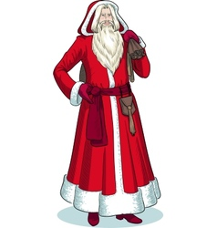 French Christmas Character Pere Noel colored vector image