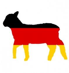 German lamb vector image