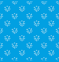 glucose pattern seamless blue vector image