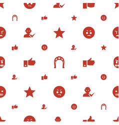 good icons pattern seamless white background vector image