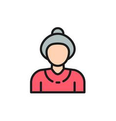 grandmother old woman pensioner senior flat vector image