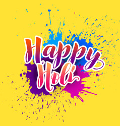 Happy holi background with colorful splash vector