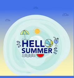 Hello summer free typo vector