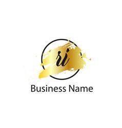 Initial letter ri logo template design vector
