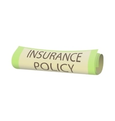 Insurance policy icon cartoon style vector