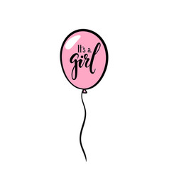 It s a girl hand drawn brush pen lettering on vector
