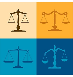Justice Scale Silhouettes vector image