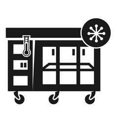 Large store fridge icon simple style vector