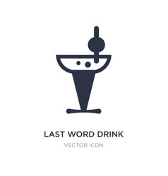 Last word drink icon on white background simple vector