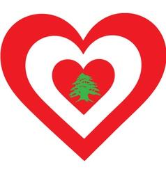 Lebanon Heart vector