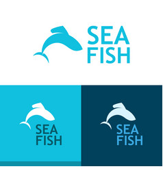 logo with grayling vector image