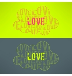 love inspirational background Cute cloud vector image