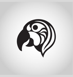 macaw logo icon vector image