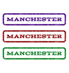 Manchester watermark stamp vector