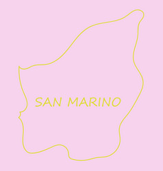 Map of san marino with flag isolated flag and map vector