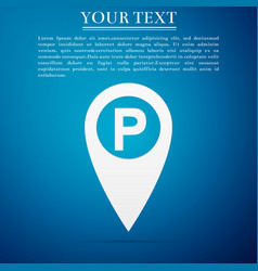 map pointer with car parking sign icon isolated vector image