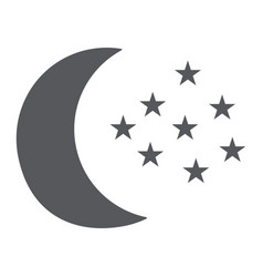 moon and stars glyph icon night and forecast vector image