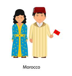 Morocco clothing vector