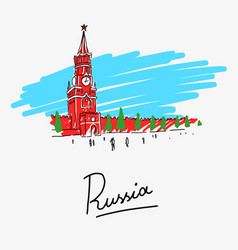 moscow kremlin in russia vector image