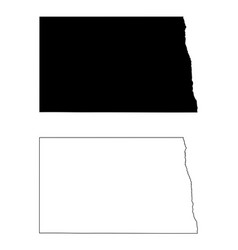 north dakota nd state map usa vector image