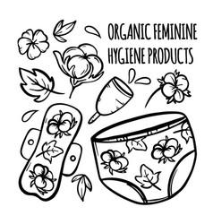 organic feminine hygiene products vector image