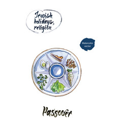 Passover watercolor vector