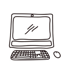 Pc technology doodle vector