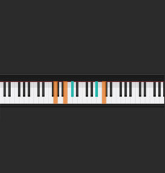 piano keys learning how to play chords vector image