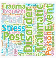 Post Traumatic Stress Among Soldiers text vector