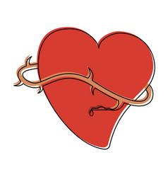 sacred heart catholic symbol vector image
