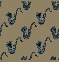 Sax seamless pattern vector