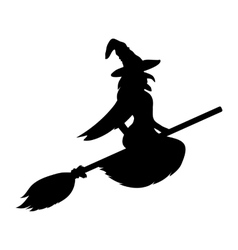 Scary witch flying vector image
