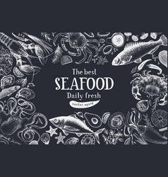 Seafood can be use for vector
