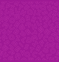 Seamless simple alphabet pattern with vector