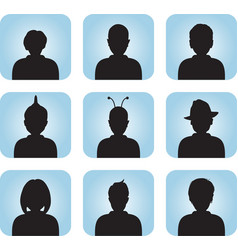 Silhouette of male female as avatar vector image