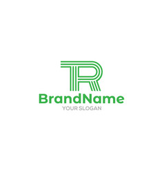 Simple line tr logo design vector