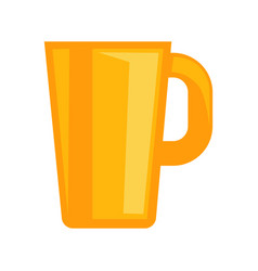 Simple yellow cup vector