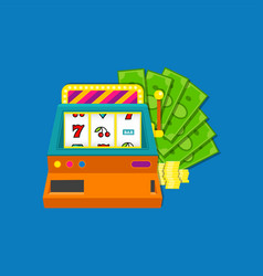 Slot machine flat with bundle vector
