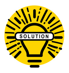 Solution stamp on white background vector