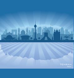 Tehran iran city skyline silhouette vector