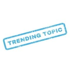 Trending Topic Rubber Stamp vector