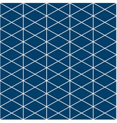 Triangle white indigo pattern vector