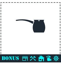 Turk icon flat vector image