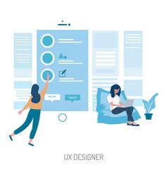 Ux designer conceptual design vector