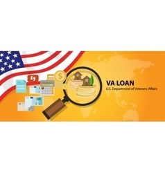 VA Loan mortgage loan in the United States vector image
