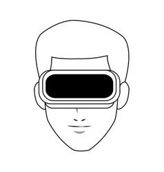 virtual reality icon image vector image