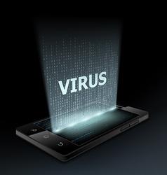 Virus icon Hologram vector image