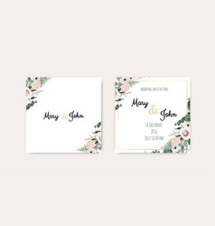 Wedding invitation save date pink vector