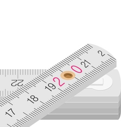 Wooden measure vector image
