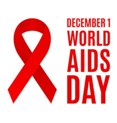 World AIDS day poster vector image